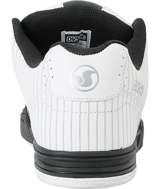 DVS Havoc Black & White Pinstripe Skate Shoes