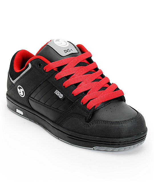 DVS Ignition Black & Red Skate Shoes