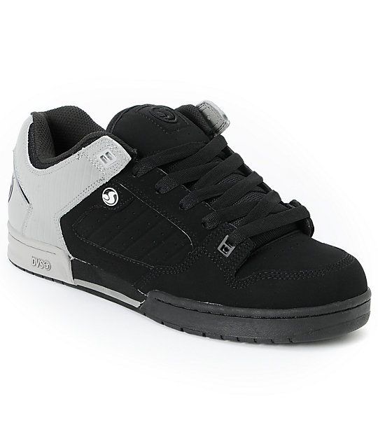 DVS Militia Black & Grey Nubuck Skate Shoes
