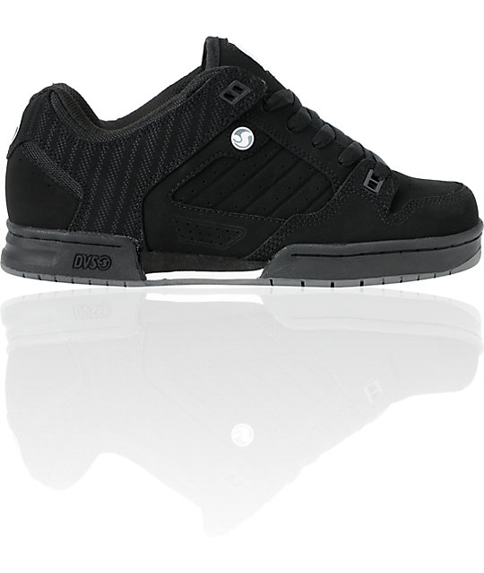 DVS Militia Black Nubuck Skate Shoes