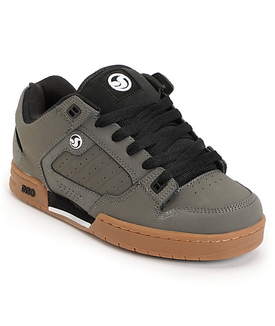 DVS Militia Grey Nubuck Skate Shoes