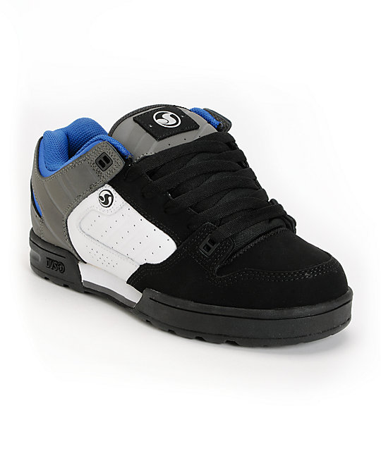 DVS Militia Snow MFM Black, White & Grey Nubuck Shoes
