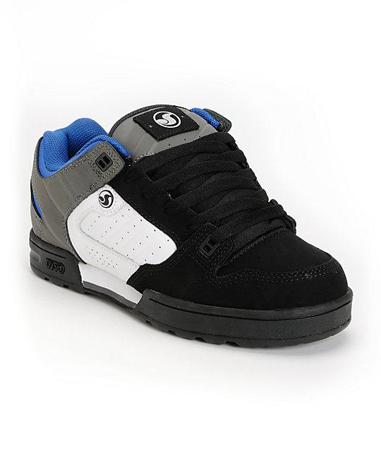 DVS Militia Snow MFM Black, White & Grey Nubuck Shoes
