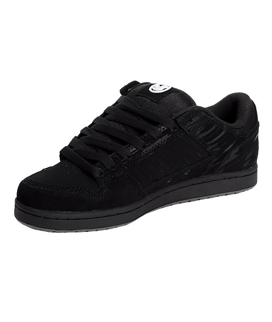 DVS Munition Black Suede Shoes