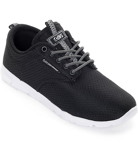 DVS Premier 2.0 Black & White Boys Mesh Shoes