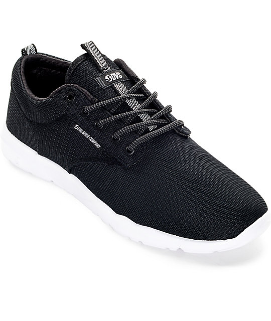 DVS Premier 2.0 Black and White Mesh Shoes