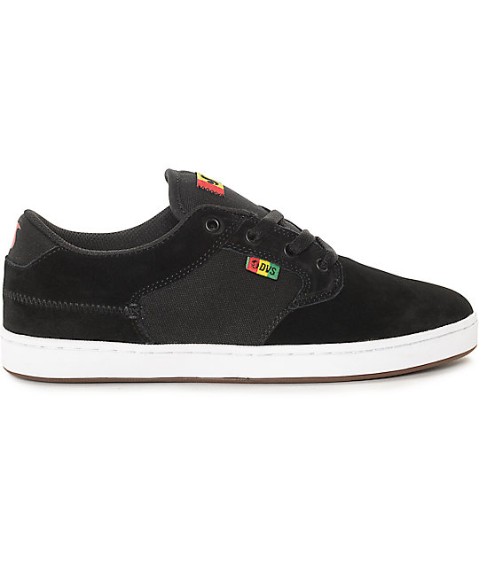 DVS Quentin Black Rasta Skate Shoes
