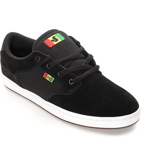 DVS Quentin Black Rasta Skate Shoes