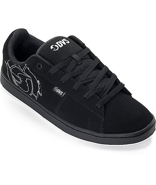 DVS Revival 2 Black & White Nubuck Skate Shoes