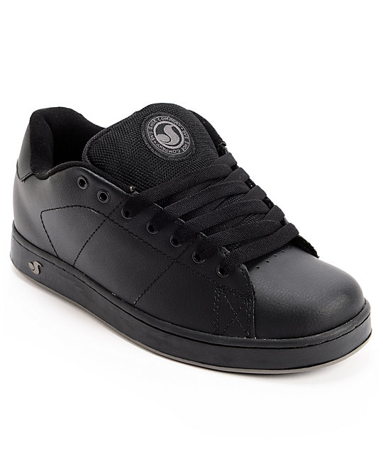 DVS Revival Black Leather Skate Shoes