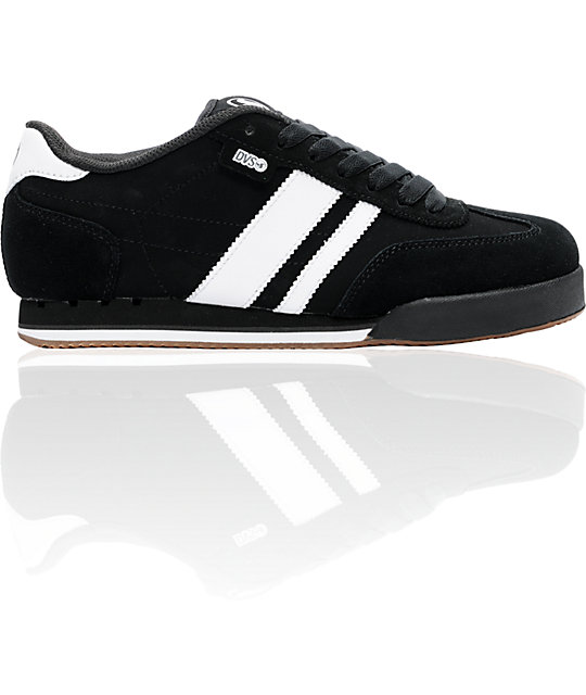 DVS Shoes Milan Black & White Skate Shoes