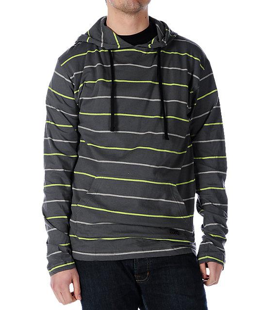 DVS Staten Grey Striped Pullover Hoodie