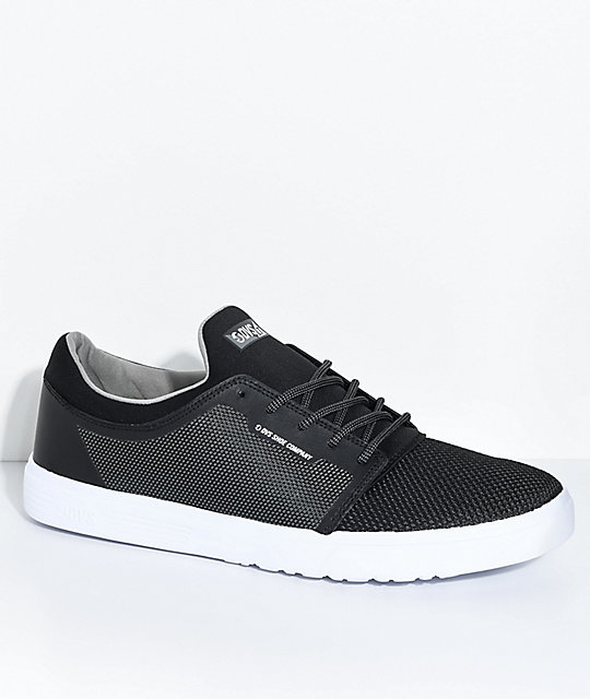 DVS Stratos LT Black & Charcoal Skate Shoes