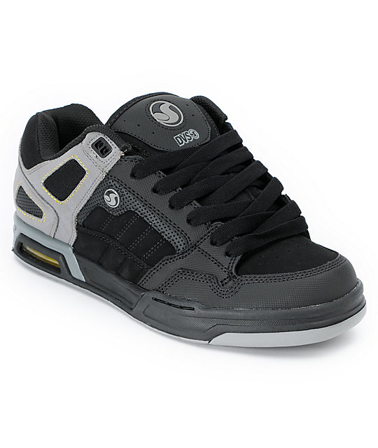 DVS Throttle Black & Grey Skate Shoes