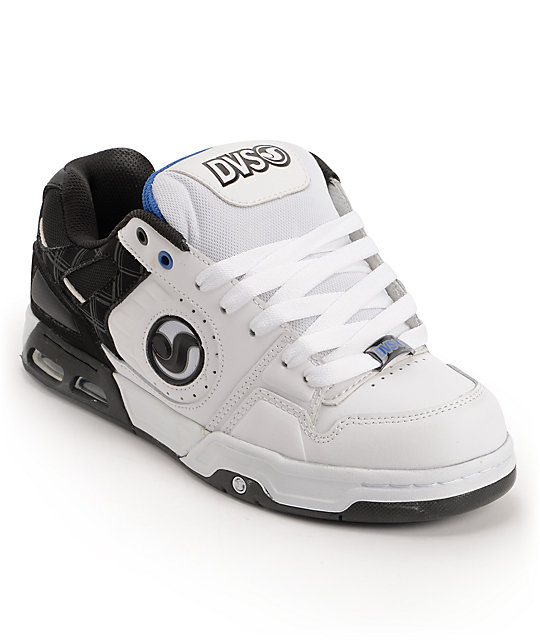 DVS Tracker Heir Black, White & Blue Skate Shoes