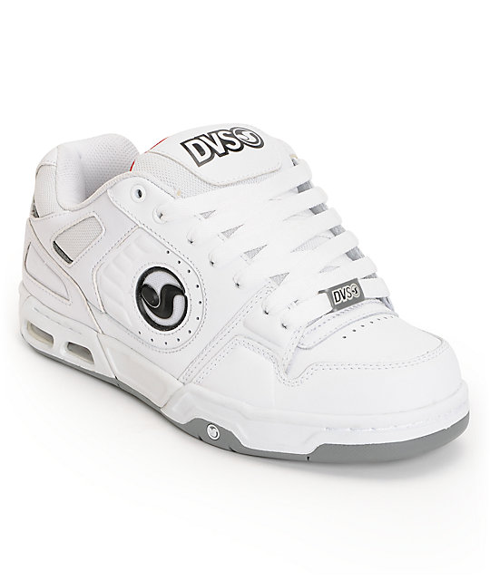DVS Tracker Heir White Leather Skate Shoes