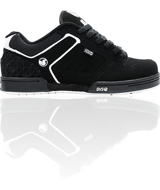 DVS Transom Black Nubuck Skate Shoes