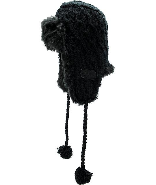 Dakine Black Misha Earflap Beanie