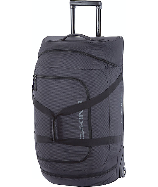 Dakine Black Stripe LG Wheeled Duffle Bag