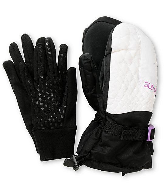 Dakine Camino Black & White Womens Snowboard Mittens