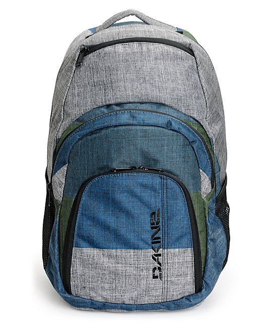 Campus 33L Stratum Grey, Blue, & Green Laptop Backpack
