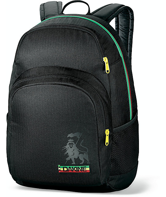Dakine Central Black & Rasta Backpack at Zumiez : PDP