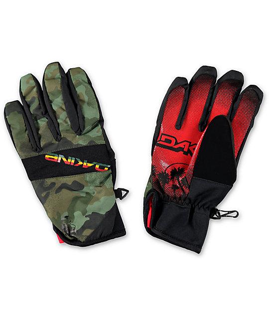 Dakine Crossfire Rasta Pipe Snowboard Gloves
