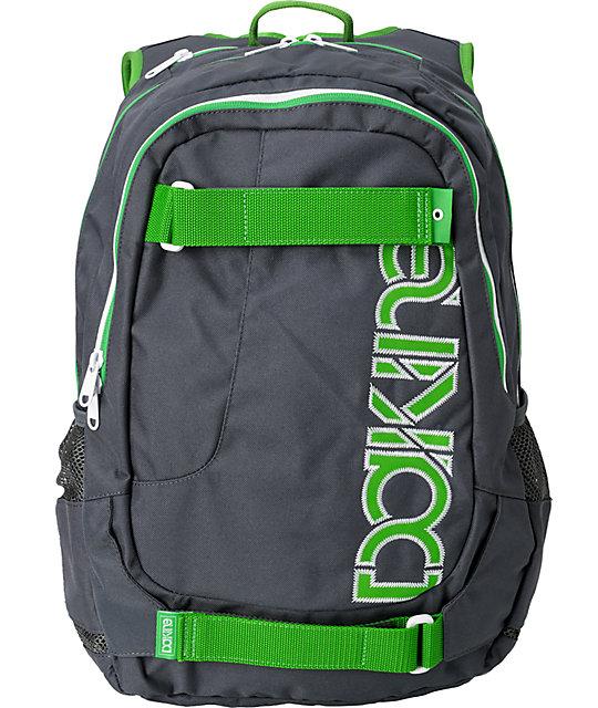 Dakine Division Charcoal & Green Skate Backpack
