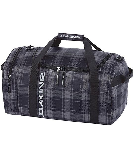 Dakine EQ Medium Grey & Black North Plaid Duffel Bag