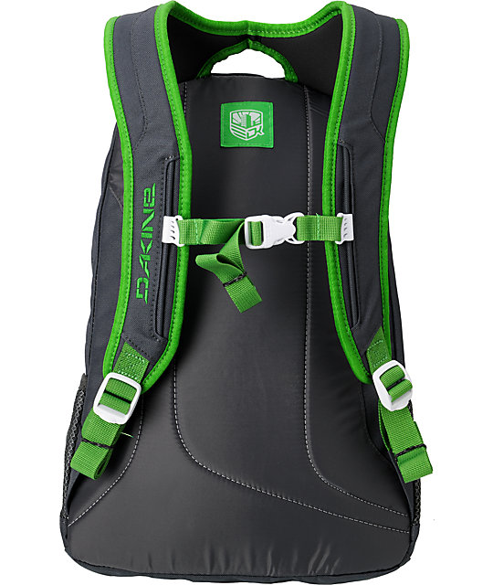 Dakine Factor Charcoal & Green Backpack