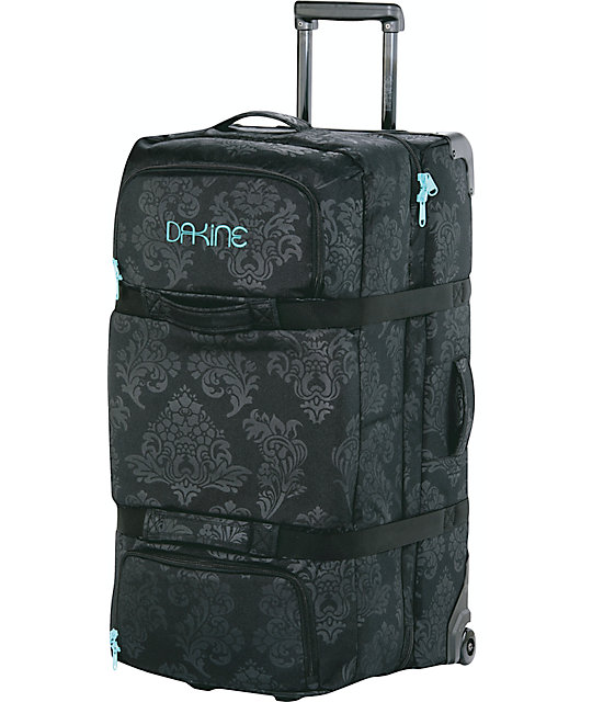 Dakine Flourish Large Black Split Luggage Roller Bag