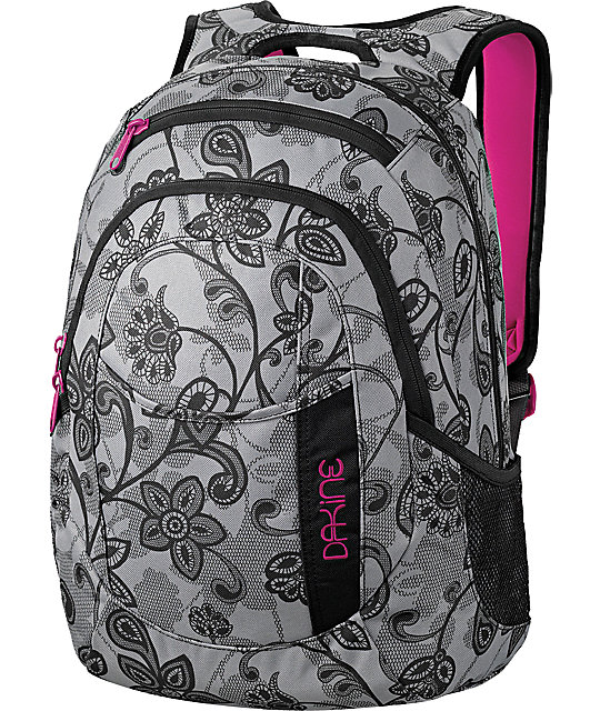 Dakine Garden Grey Floral Backpack | Zumiez