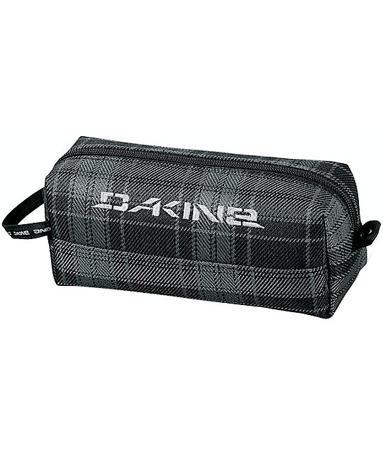 Dakine Grey Plaid Accessory Case