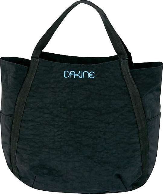 Dakine Havana Black Crinkle Tote Bag