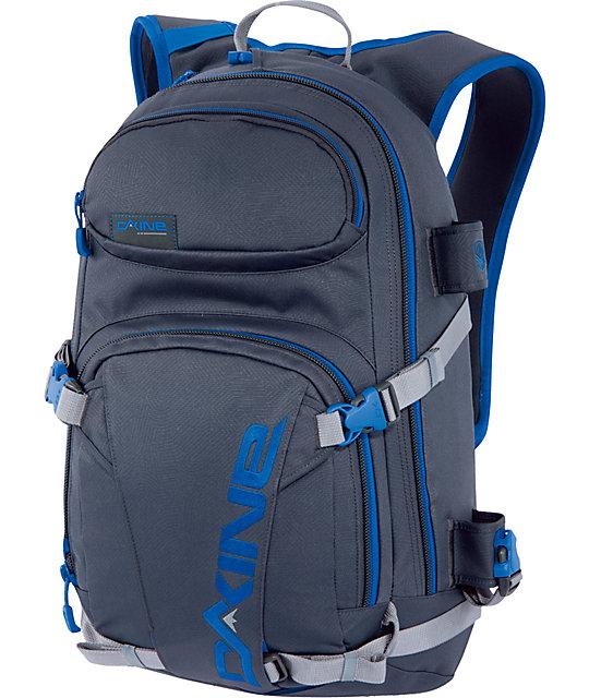 Dakine Heli Pro Grey & Blue Stencil Snow Backpack
