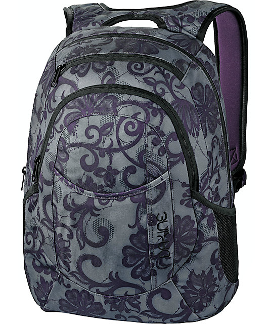 Dakine Lacey Garden Purple & Grey Laptop Backpack
