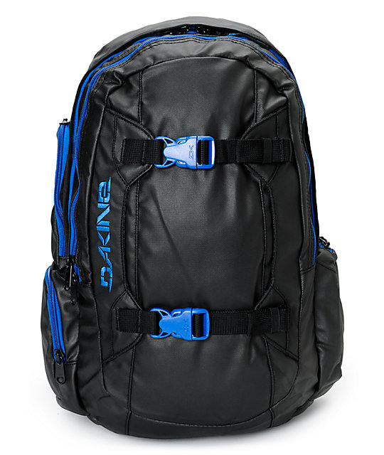 Dakine Mission 25L Blackout & Blue Backpack at Zumiez : PDP