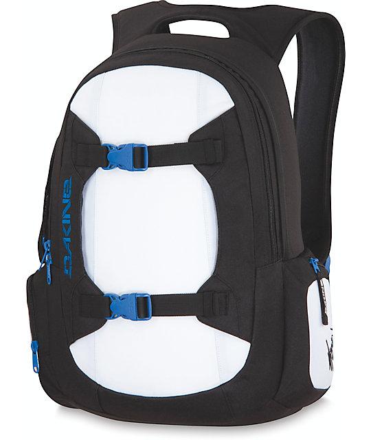 Dakine Mission Black, White & Blue Laptop Backpack