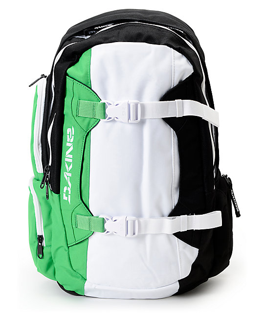 Dakine Mission Black, White & Green 25L Backpack at Zumiez : PDP