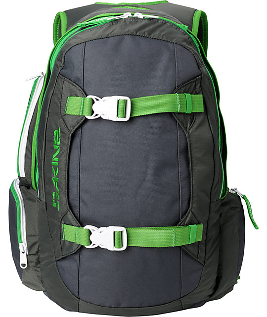 Dakine Mission Charcoal & Green Backpack at Zumiez : PDP