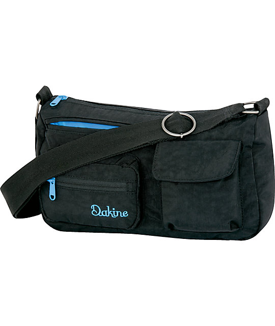 Dakine Shimmy Black Crinkle Shoulder Bag