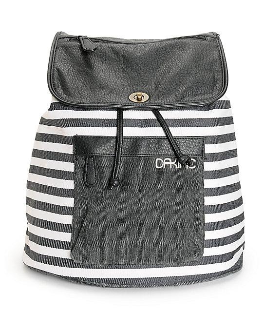 Dakine Sophia Black & White Stripe Rucksack Backpack at Zumiez : PDP