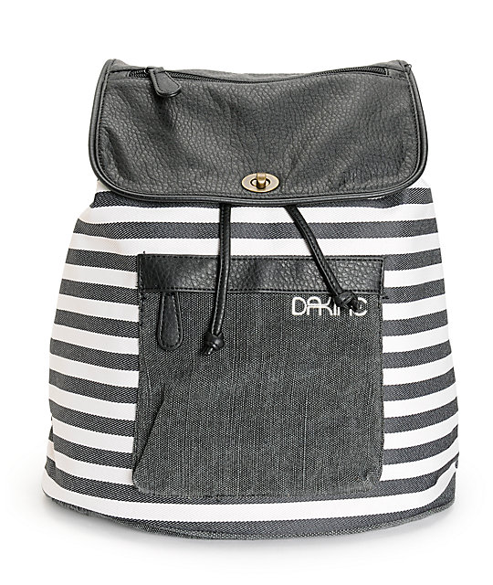 Dakine Sophia Black & White Stripe Rucksack Backpack at Zumiez : PDP