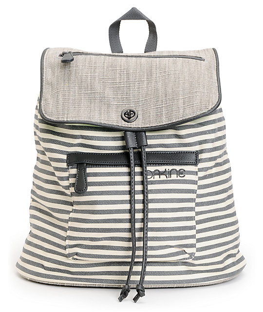 Dakine Sophia Marina Stripe Canvas Tote Backpack