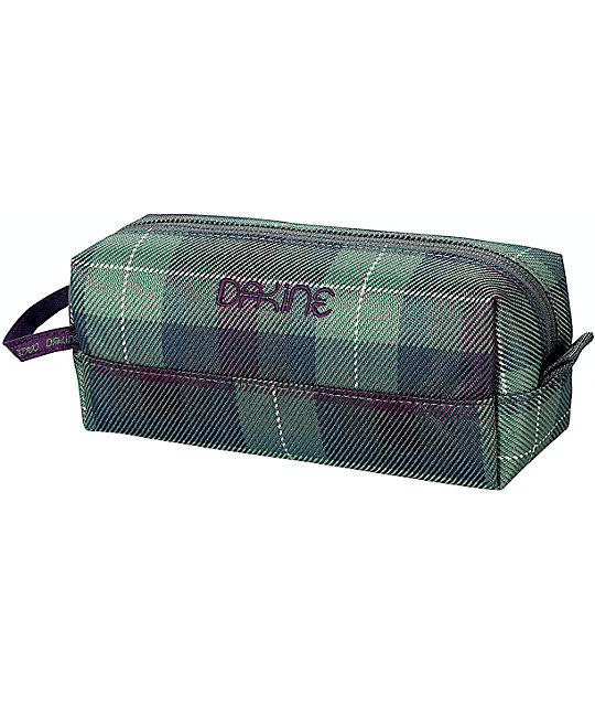 Dakine Tartan Purple & Grey Plaid Accessory Case