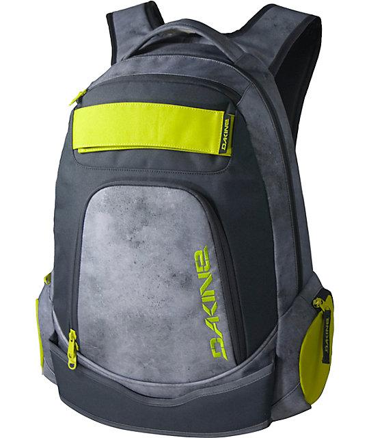 Dakine Varial Grey & Citron Skate Backpack | Zumiez