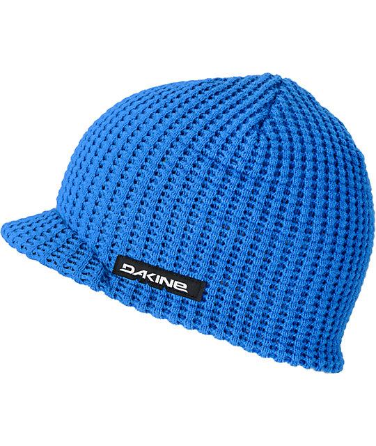 Dakine Waffle Blue Visor Beanie