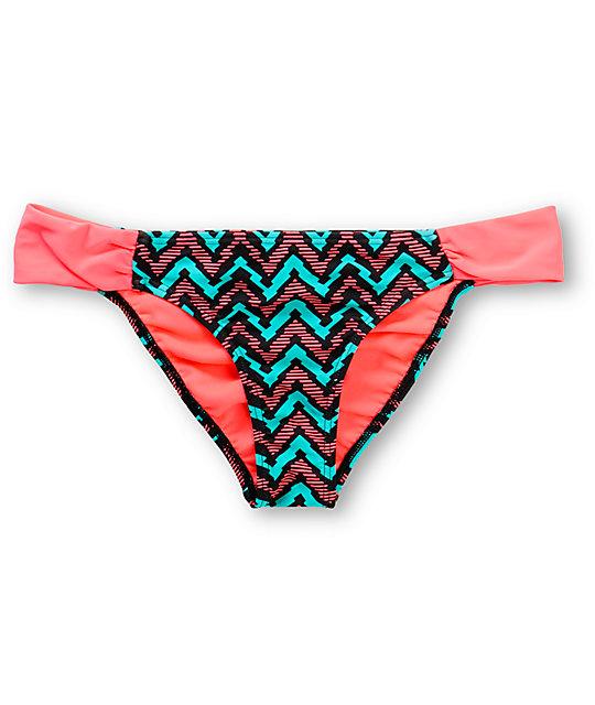 Damsel Paradox Jade & Sorbet Tab Side Bikini Bottom