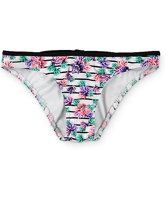 Damsel Succulent Bow White Bikini Bottom