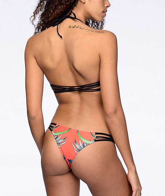 Damsel Tropical Escape Orange Super Cheeky Bikini Bottom